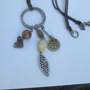 SILPADA N1568 Silver,Copper, quartz necklace